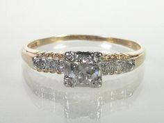 Vintage 017 Carat Diamond Engagement Ring by lonestarestates, $355.00
