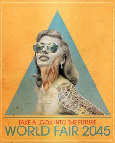 World Fair 2045 'A Look Into the Future' by Shak – via http://xshakx.blogspot.com/