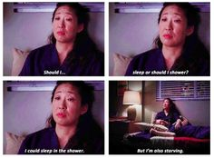 This always seems to be my dilemma lol Cristina - Grey's Anatomy. Greys Anatomy, Story Of My Life, The Life, Real Life, Youre My Person, Christina Ricci, Oui Oui, How I Feel, Virginia Beach