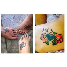 27 Heart-Melting Sister Tattoos don't like the actual tattoo but the 1 of 3 and 2 of 3 is a cute idea