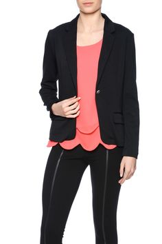 Lightweight blazer with single button closure and front pocket detail.   Basic Black Blazer by Fantastic Fawn. Clothing - Jackets, Coats & Blazers - Jackets - Blazers Illinois