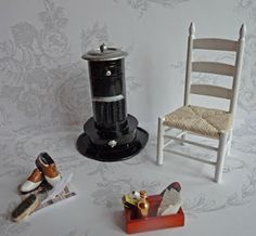 How to make a stove from paper for the dollhouse scale 1:12