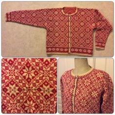 Cardigan with Patience bag Knitting Charts, Sweater Knitting Patterns, Knitting Stitches, Knitting Designs, Knit Patterns, Vintage Patterns, Norwegian Knitting, Swedish Fashion, Fair Isle Knitting