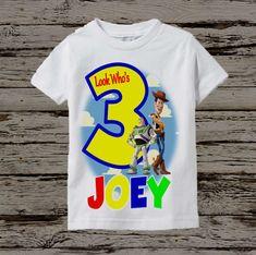 Toy Story Birthday Shirt Boy's Black Shirt by BellaFashionDesignz