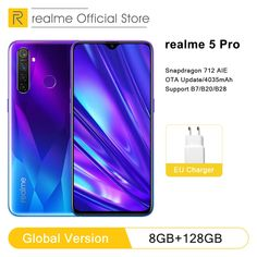 Global Version realme 5 Pro 4GB RAM 128GB Mobile Phone Snapdragon 712AIE 48MP Quad Camera Smartphone 4035mAh Fast Charger  Price: 472.98 & FREE Shipping  #onlineshopping Quad, Smartphone, Big Battery, Sony Camera, Crystal Design, Special Promotion, Low Lights, Free, Caramel Highlights