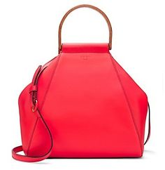 Tory Burch Dowel Leather Half-Moon Bag