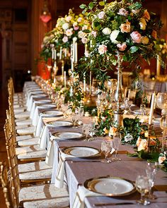 Gold rimmed chargers add an elegant touch to your table setting. Indianapolis Scottish Rite Cathedral is the perfect event venue for you to host your Wedding Reception Indianapolis