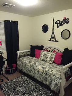 Teen Girl Bedroom themes Elegant Pin On Bedroom Decor Paris Themed Bedroom Decor, Paris Room Decor, Paris Rooms, Paris Bedroom, Bedroom Themes, Living Room Decor, Bedroom Ideas, Teen Girl Bedrooms, Teen Bedroom
