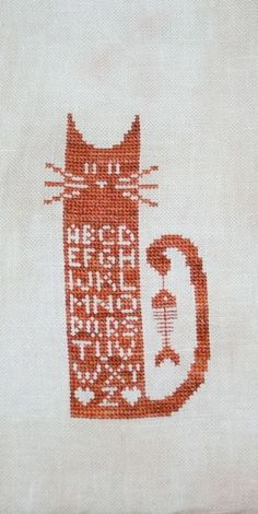 cat cross stitch  (from Stitched in Wales http://mollycaff.wordpress.com)