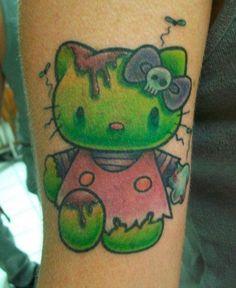 Sweet Tattoos, Cool Tattoos, Cat Tattoo, Tattoo Art, Painted Rocks, Tatting, Hello Kitty, Ink, Cool Stuff