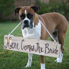 Wow your guests with creative wood signs at your wedding. (Image by Braggingbags via Etsy)