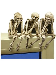 """See, Speak and Hear No Evil"" Shelf Sitters by Pacific Trading"