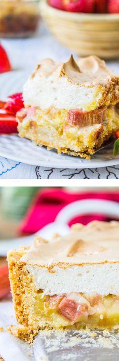 Rhubarb Meringue Layers from The Food Charlatan // Buttery crust, custard, rhubarb + meringue. SO EASY!