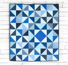 Stitch the perfect blend of classic blues into your next quilt with this precut-friendly top.