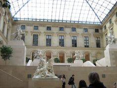 Paris, France-Louvre inside view