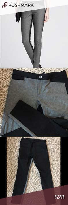 Banana Republic Sloan Colorblock Gray + Black Pant Gray Front. Black Back. Barely worn. Banana Republic Pants Ankle & Cropped