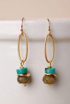 Sunrise Simple Gemstone Dangle Earrings