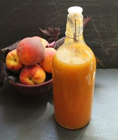 Homemade peach shiso soda.  Made without equipment.  Nature's sodastream has a name: yeast!
