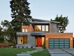 Industrial Modern Design Ideas, Pictures, Remodel and Decor - I love the different finishes on the exterior of this house!