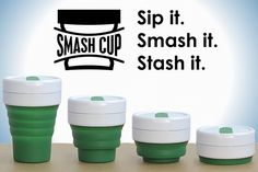 Smash Cup is a collapsable coffee mug that can be stored worry-free in handbags, backpacks and even pockets.