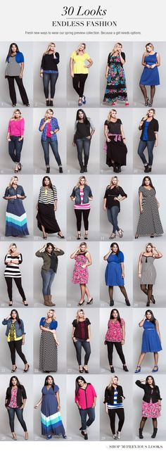 30 days of outfits! Hey, a girl's gotta have options... #ShopByOutfit #TorridSpring
