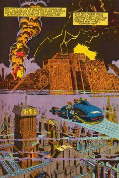The Visual Exegesis: Marvel Super Special: Blade Runner & Jim Steranko Blade Runner Spinner, Film Blade Runner, Blade Runner 2049, Sci Fi Films, Action Films, Jim Steranko, Denis Villeneuve, Comic Book Pages, Comic Books