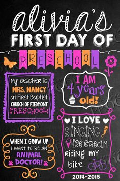 First Day of School Chalkboard Sign by MySunWillShineDesign, $7.00