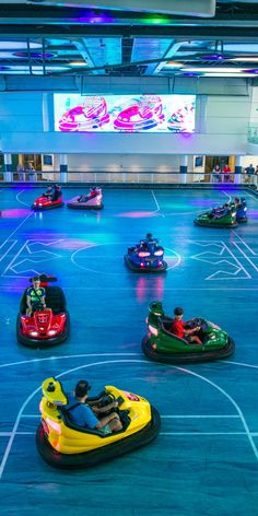 Anthem of the Seas | Catch me if you can. Royal Caribbean's Quantum Class ships feature fun for the whole family. Try your luck on the mini-golf course, scale the rock wall, or try to ram a friend in a bumper car.