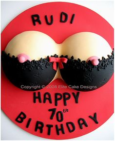 Women's Breasts Novelty cake, exclusively designed by EliteCakeDesigns Sydney Visit our exclusive Novelty Cake design Gallery Lingerie Cake, Bra Cake, Custom Birthday Cakes, Adult Birthday Cakes, Unique Cakes, Creative Cakes, Cake Cookies, Cupcake Cakes, Bachelor Cake