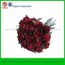 Envío gratis 26 cabezas Classic flor de la boda de flores ramo de rosas ramo para la novia(China (Mainland))