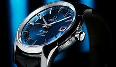 Omega - De Ville  Hour Vision   Steel  Dial - Blue  Water resistance100 m (330 feet)  Size - Gents Case Diameter: 41 mm