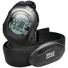 Pyle-sports Bluetooth Fitness Heart Rate Monitoring Watch With Wireless Data Transmission & Sensor (black)