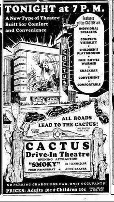 Cactus Drive-In Advertisement