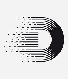 D Letter design for Non Mute, a mexican T-shirt brand and other stuffs by Clim. Typographic Design, Graphic Design Typography, Lettering Design, Branding Design, Geometric Graphic Design, Logo Branding, Web Design, Line Design, Design Art