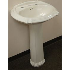 $144.99. Overstock. Upgrade the decor of your bathroom with this pedestal sink. Made from durable ceramic in a biscuit hue, this sink will be the highligh of your home improvement project.