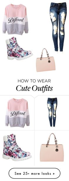"""""""My First Polyvore Outfit"""" by sashasharris on Polyvore featuring Timberland, MICHAEL Michael Kors, women's clothing, women, female, woman, misses and juniors"""
