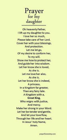"""Prayer for daughter"" .found this under prayers for daughter.only appropriate that I should pin for my daughter too! Prayer Scriptures, Bible Prayers, Faith Prayer, My Prayer, Prayer For Wisdom, Prayer For Baby, Prayer Circle, Jesus Prayer, Prayers For My Daughter"