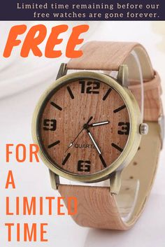 To establish our watch brand we will exclusively offer FREE watches for our costumers as we are clearing out our entire store. Yes, you heard that right. You just have to pay for shipping. Hurry up before it's all cleared. Limited time remaining before our free watches are gone forever.