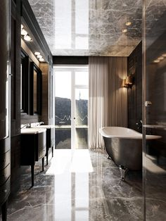 Spa Bathroom Design Ideas For Your Dream House Spa Bathroom Design, Minimalist Bathroom Design, Modern Master Bathroom, Bathroom Spa, Chic Bathrooms, Bathroom Toilets, Bathroom Wall Decor, Contemporary Bathrooms, Small Bathroom