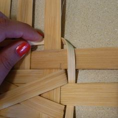 """weaving the locking row  -----   tried this with 3/8"""" to lock in 3/4"""" spokes --- worked great and very secure - looks better than a round one"""