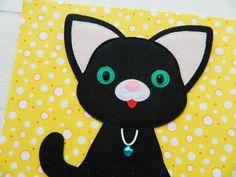 Quiet book PDF pattern Kitten and Memori, Quiet book PDF templates made of felt, Quiet book page ideas Pattern PDF Sock Dolls, Felt Dolls, Crochet Dolls, Rag Dolls, Needle Felted Animals, Felt Animals, Needle Felting, Quiet Book Templates, Quiet Book Patterns