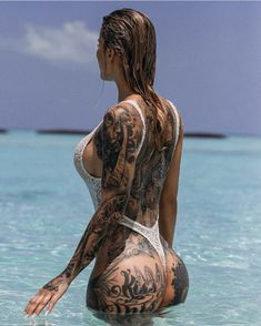 Ink Model, Summer Vibes, Tatoos, Hot Girls, Swimming, Cover Up, 1, Instagram, Lady