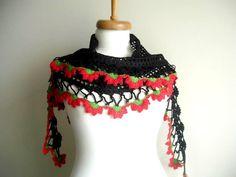 New Season Spring 2012 Triangle  Black Scarf By by crochetlab, $32.00