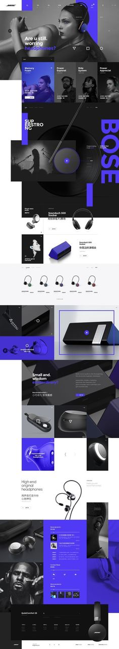 BOSE #webdesign #black #blue