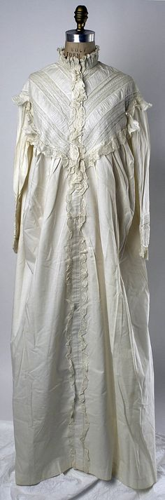Nightgown Date: 1874 Culture: American  Medium: [no medium available] Accession Number: C.I.45.143.2 The Metropolitan Museum of Art