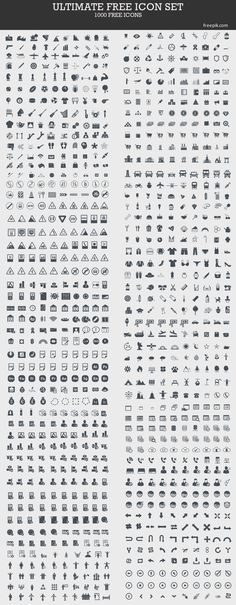 Ultimate Free Icon Set (1000 Icons). This is a great set to use as a starting…