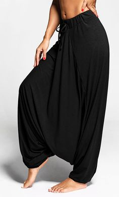 pants outfit:Harem Pants with Drawstring