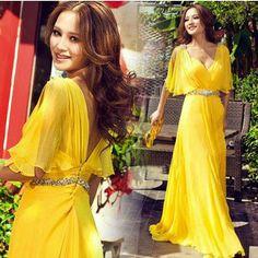 L'arrivée de nouveaux 2013 célébrité sexy robe de soirée formelle v design cou robe longue robe de soirée