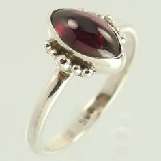 Amazing Collection Ring Size US 6 Natural GARNET Gemstone 925 Sterling Silver #Unbranded