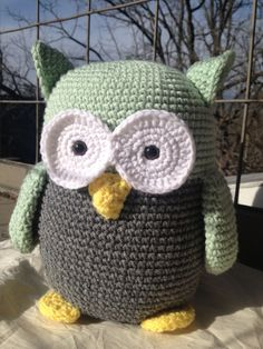 Crocheted Owl - available through Etsy - WendyAnnBoutique